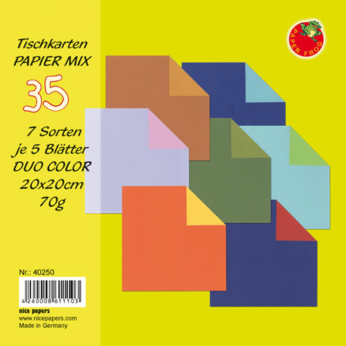 Origami Papier DUO COLOR Tischkarten MIX